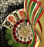 Casino 2016 New year background, vector. Illustration Stock Photography