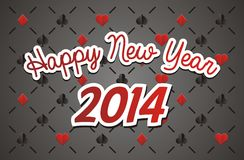 Casino new year 2014. Suitable for new year celebrations Royalty Free Stock Image