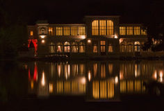 Casino in the night. Night image of a Casino building and its reflection in the water Stock Photos