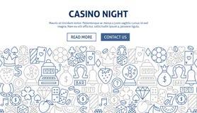 Casino Night Banner Design stock illustration