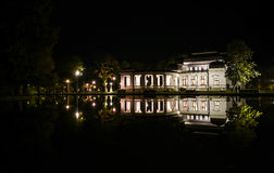 The casino in the night lights. Beautiful casino placed near by the lake, in Cluj-Napoca Royalty Free Stock Photos