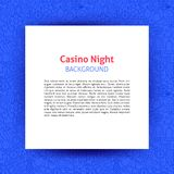 Casino Night Paper Template royalty free illustration