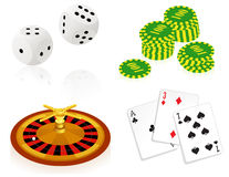Casino objects Royalty Free Stock Images