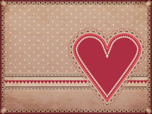 Casino old background with hearts poker element Royalty Free Stock Photography