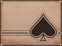 Casino old background with spades poker element Royalty Free Stock Photo