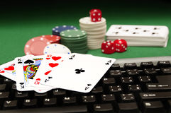 Casino online. Conceptual image for online gambling Royalty Free Stock Photography