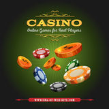 Casino Online Background Stock Photography