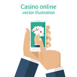 Casino online concept. Stock Image