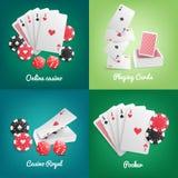 Casino Online Realistisch Concept royalty-vrije illustratie