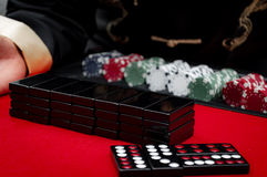 Casino Pai Gow Tiles Royalty Free Stock Images