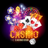 Casino Party Vector Royalty Free Stock Photos