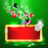 Casino Party Vector. Win big! Stock Photography