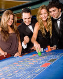 Casino people Royalty Free Stock Photos