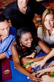 Casino players Royalty Free Stock Photo