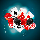 Casino playing card element Royalty Free Stock Photos