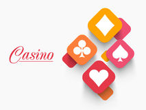 Casino playing card symbol. Royalty Free Stock Photo