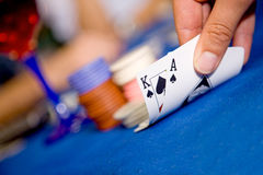 Casino playing cards Stock Photo