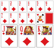 Casino Playing Cards - Diams vector illustration