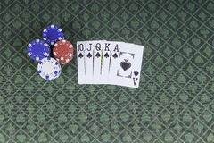 Casino poker background with room for text Stock Photos