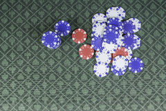 Casino poker background with room for text Stock Images