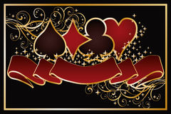 Casino Poker background stock illustration