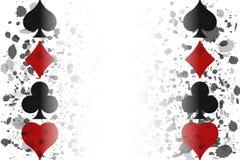 Casino poker banner red, white and black, vector. Illustration stock illustration