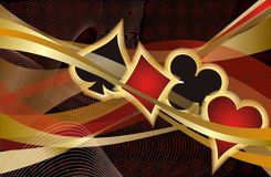 Casino Poker banner Royalty Free Stock Photography