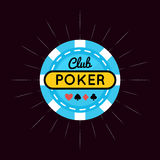 Casino, Poker chip design with card royalty free illustration