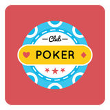 Casino, Poker chip vector design with card Stock Images