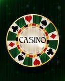 Casino poker chip, vector. Illustration vector illustration