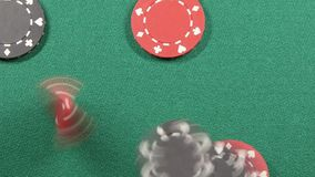 Casino poker chips stock footage