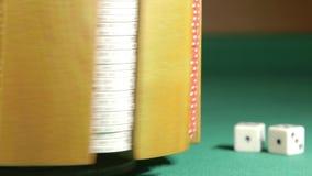 Casino poker chips stock video