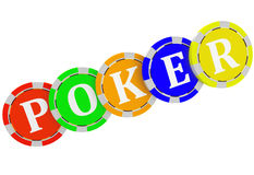 Casino, Poker chips Stock Images