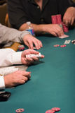 Casino poker dealer Stock Photography