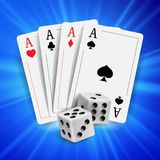 Casino Poker Design Vector. Poker Cards, Playing Gambling Cards. Online Casino Lucky Background Concept. Fortune. Casino Poker Design Vector. Poker Cards Royalty Free Stock Image