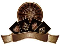 Casino poker elements royalty free illustration
