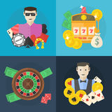 Casino or poker flat illustration Stock Photography