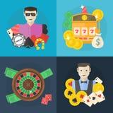 Casino or poker flat illustration Stock Photography