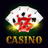 Casino poker game cards, lucky number Royalty Free Stock Images