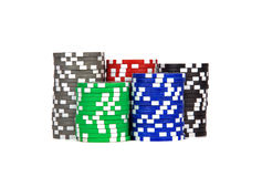 Casino / poker / games chips Stock Photos