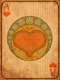 Casino Poker hearts card in art nouveau style vector illustration