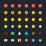 Casino or Poker icons set Royalty Free Stock Images