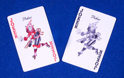 Casino poker joker cards royalty free stock photos