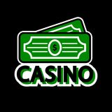 Casino poker logo template. Lucky winner dollar money. Vector isolated icon Stock Photo