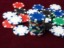 Casino poker money chips texture. royalty free stock photography