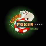 Casino poker online poster Royalty Free Stock Photography