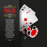 Casino Poker Poster Or Banner Background Or Flyer Template. Royalty Free Stock Photos