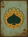 Casino poker spades symbol in art nouveau style. Vector illustration Royalty Free Stock Photography
