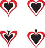 Casino poker symbol. The symbols designate love to gamblings Stock Photography