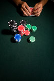 Casino poker table Stock Image